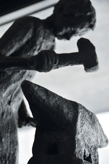 Opera in ferro di GioBert, Collezione privata. GioBert, iron-sculpture, Private collection.